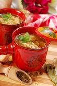 Polish tripe soup (flaki) — Stock Photo