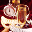 Champagne for New Year — Stock Photo