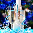 Glasses with champagne - Stock Photo