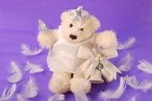 Angel teddy bear — Stock Photo