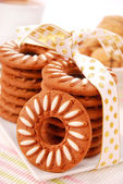 Sweet cookies and coffee — Stock Photo