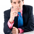 Businessman asking for explanations — Stock Photo