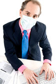 Flu prevention at work — Stock Photo