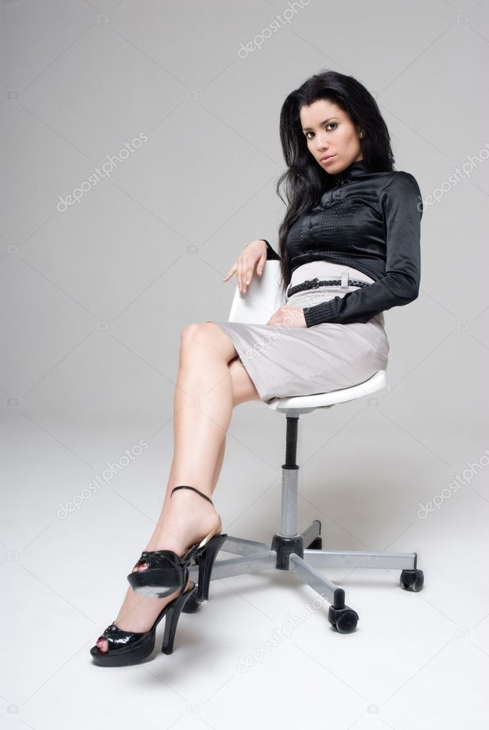 Studio shot of a sexy executive woman — Stock Photo #2801632