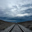 Railway to the infinite — Stock Photo