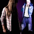 Young hip-hop man try to pick up a girl at disco — Stock Photo
