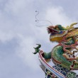 Chinese Dragon with clean blue skies — Stock Photo