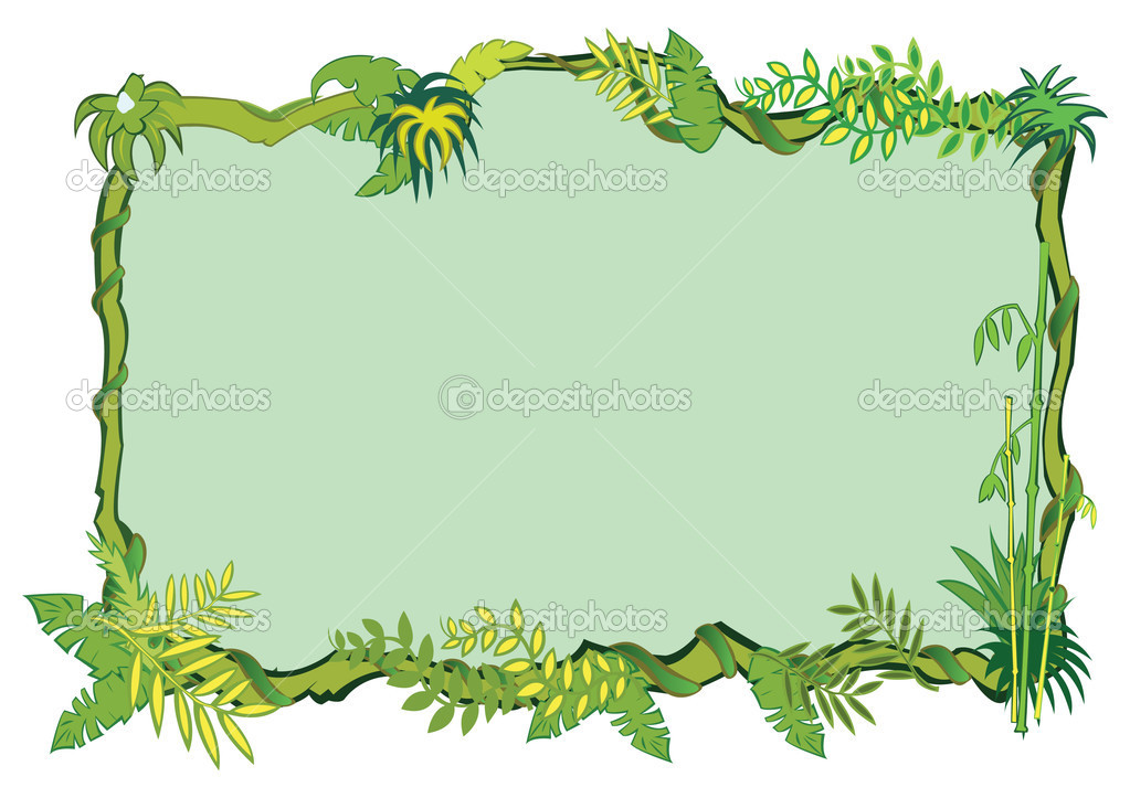 Jungle frame concept in vector — Stock Vector #2905165