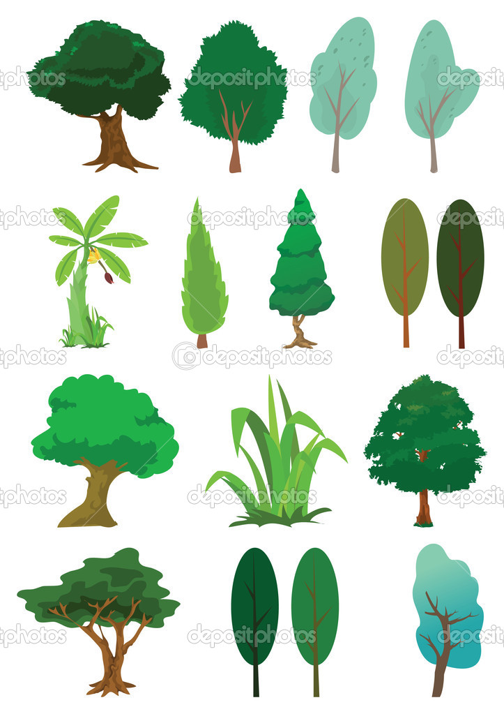 Assorted tree of nature illustration in vector  Stock Vector #2956839