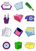 Office equipment and stationery in vecto — Stock Vector