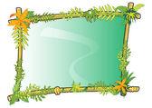 Bamboo frame concept in vector — Stock Vector