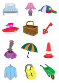 Children Cute Items in Vector — Stock Vector