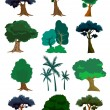 Trees illustration in vector — Stock Vector