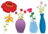 Assorted flower of nature illustration i — Stock Vector