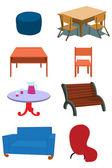 Furniture Equipment Illustration in Vect — Stock Vector