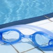 Stock Photo: Blue color goggle