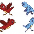 Assorted Cute Bird Illustration in Vector — Vektorgrafik