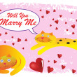 Royalty-Free Stock Vector Image: Cat Will You Marry Me Illustration in Vector