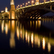Night Scene of a Bridge at Putrajaya, Malaysia — Stock Photo