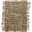 Piece of frayed burlap - Stockfoto