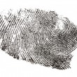Isolated finger print - Stock Photo