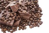 Chocolate and coffee — Stock Photo