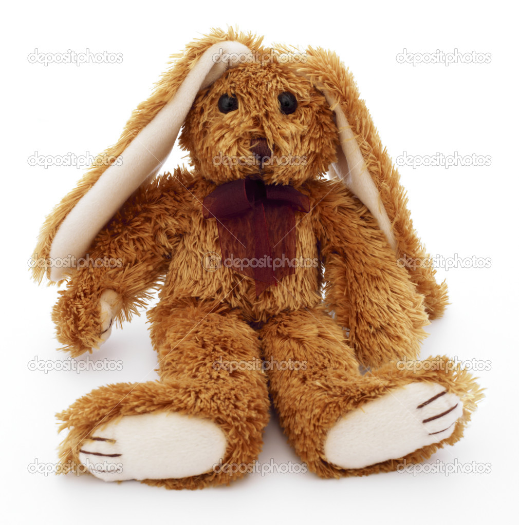 Toy rabbit on a white background — Stock Photo #2741916