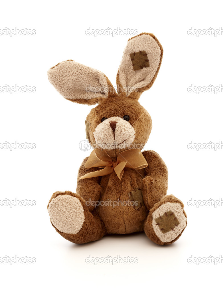 Toy rabbit on a white background — Stock Photo #2741930
