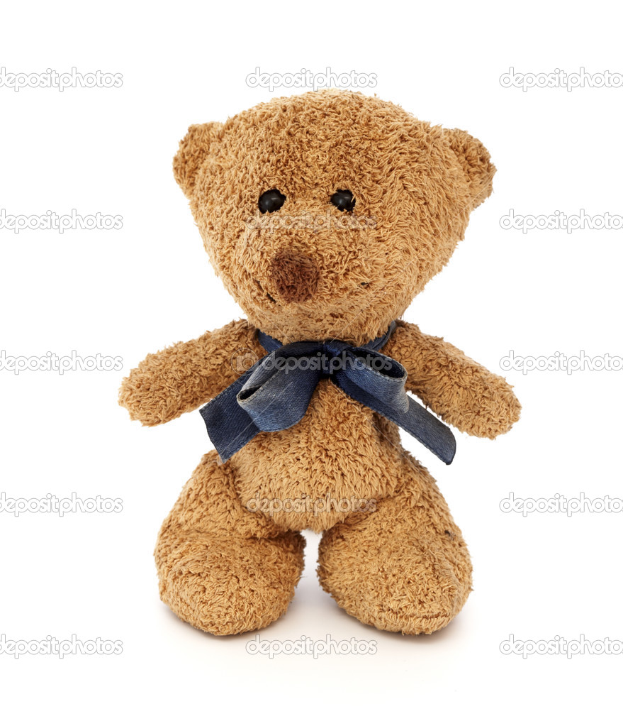 Teddy Bear toy, white background — Foto Stock #2741951