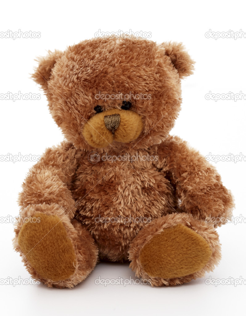 Teddy Bear toy, white background  Stock Photo #2744879