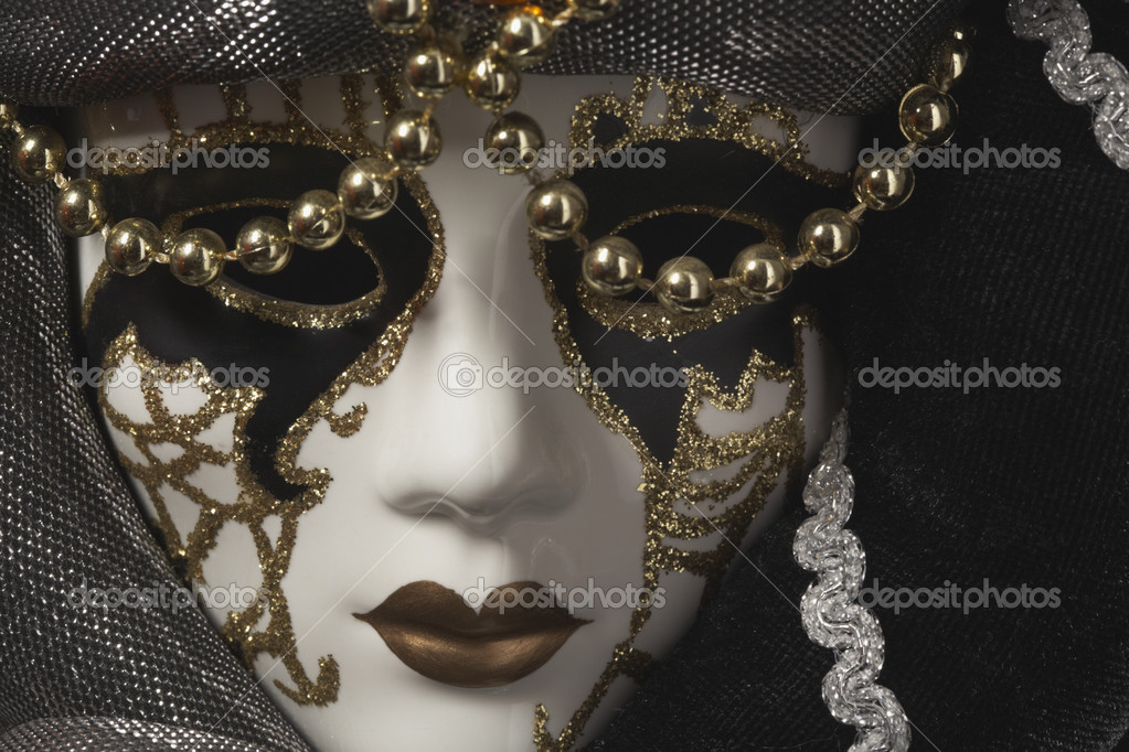 Carnival mask on black background  Stock Photo #2748781