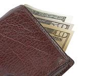 Money in wallet, — Stock Photo