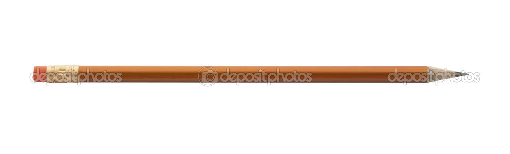 Wooden pencil,isolated on white with clipping path.  Stock Photo #3298479
