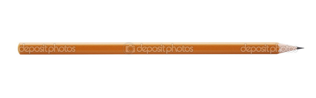Wooden pencil,isolated on white with clipping path. — Stock Photo #3298482