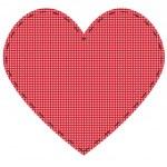 Checkered serca — Wektor stockowy
