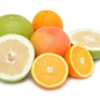 Group of citrus fruits, isolated — Stock Photo