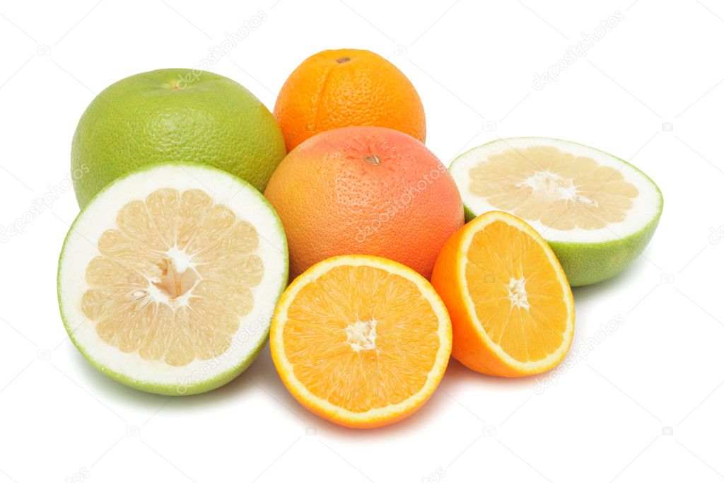 Group of citrus fruits, isolated on a white background — Stock Photo #2782099