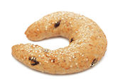 Croissant with Sesame Seeds, isolated — Stock Photo