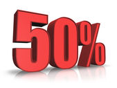 Red Fifty Percent — Stock Photo