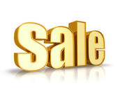 Gold Sale Tag — Stock Photo