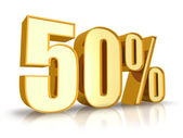 Gold Fifty Percent — Stock Photo