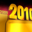 Gold Year 2010 — Stock Photo #2832502
