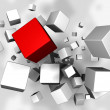 Cubes Explosion — Stock Photo #3566839