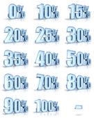 Ice Percent Tags — Stock Photo