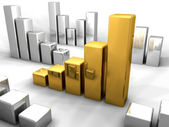 Gold-chart 2 — Stockfoto