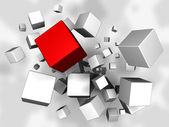 Cubes Explosion — Stock Photo