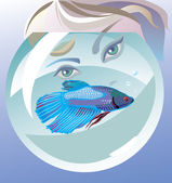 Hello, fish! — Stock Vector