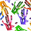 Coloured handprints — Stock Photo #2895364