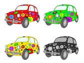Four cars — Stock Vector