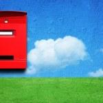 Red mail box — Stock Photo #3675303